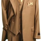 Mu3Tr3 British/Khaki Classic And Sophisticated Three Piece Men'S Dress Suit