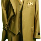 Men'S Fashion Suit In Super 150'S Luxurious Wool Feel British Khaki