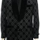 Mens Stylish Fashion Unique Tuxedo Black