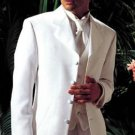 "Longer Coat 4 Button White Notch Tuxedo -38"" 4 Button \""Long Coat Tuxedo\""-"