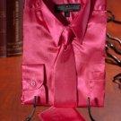 Boys Hot Pink Satin Dress Shirt Combo