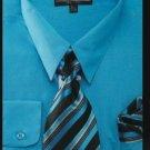 Men'S Dress Shirt - Premium Tie - Turquoise