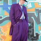 Beautiful Mens Purple Longer Fashion Dress With Nice Cut Smooth Fabric