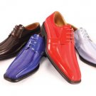 Satin Bike Toe Lace Shoes Availble In Royal Blue & Red