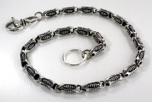 ROLLER 925 STERLING SILVER MEN'S WALLET CHAIN NEW