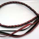 RED BLACK GENUINE COW LEATHER BELT JEAN WALLET CHAIN NR