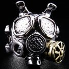 GAS MASK .925 STERLING SILVER MENS RING NEW