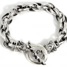 TRIBAL 925 STERLING SILVER CHAIN DESIGNER BRACELET 9""