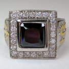 PRINCESS AMETHYST CHRISTIAN BISHOP STERLING SILVER RING