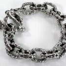 MUSCLE BONE 925 STERLING SILVER CHAIN BRACELET NEW