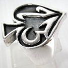 NUMBER 13 SPADE 925 STERLING SILVER GOTHIC RING NEW