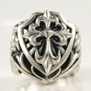 BIG CROSS SOLID 925 STERLING SILVER MENS RING Sz 14 NEW