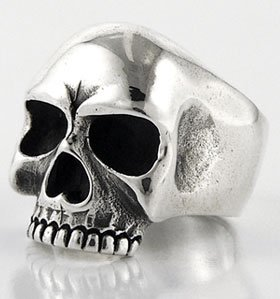 Keith Richards Skull Rolling Stones 925 Sterling Silver Mens Ring