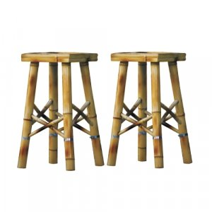 Tiki Bar Stools, Set of 2