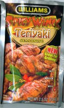 Williams Spicy Wings Teriyaki  Seasoning Mix