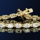 16.1ct HUGE OVAL CUT TENNIS BRACELET 7 1/4