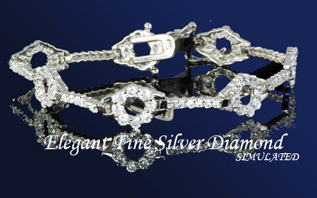 13.28ct PLATINUM BRILLIANT ROUND TENNIS BRACELET