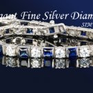 12.80CT FLAWLES PLATINUM DIAMOND SILVER TENNIS BRACELET