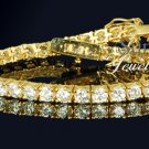 9.24CT 18k ROUND CUT TENNIS BRACELET 7 1/4