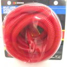 "NEW RED 3/8"" SPLIT LOOM 8 FEET CONVOLUTED TUBING  29682"