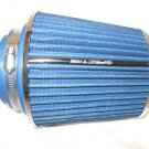 Gneuine Spectre Air Intake Filter in BLUE & CHROME + INCLUDES SIZE ADAPTERS READ