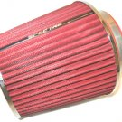 "Air Intake Filter 4"" Boot PLUS 3.5"" & 3"" Size Adapters Red & Chrome Spectre 8132"