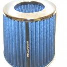 "LOWERED! Air Intake Filter 4""+ 3.5""+3""Boot  BLUE & Chrome Spectre MINOR COSMETIC"