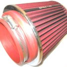 "Spectre Air Intake Filter in Red and Chrome - Has 4"" & 3.5 Air Intake Pipe Boot"