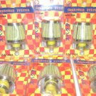 SIX New Air Breather Filters w/ Clamps Yellow w/ Chromed Ends 8-12mm Female Boot