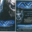 AVP: ALIEN VS. PREDATOR (2004) #P1 PROMO CARD FREE SHIPPING