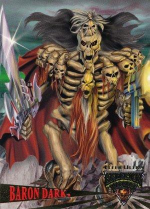 "1995 Fleer Ultra Skeleton Warriors Promo ""Baron Dark""NM free shipping"