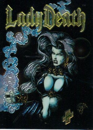 """Lady Death """"Between Heaven & Hell"""" Wizard Promo Card 1 NM FREE SHIPPING"""