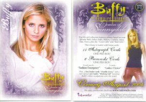BUFFY VAMPIRE PROMO CARD WOMEN OF SUNNYDALE P-1 NEAR MINT FREE SHIPPING