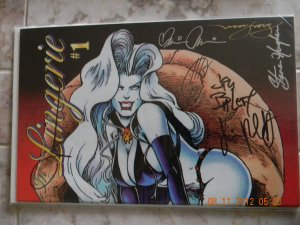 LADY DEATH LINGERIE #1 SIGNED 7X WITH DYNAMIC FORCES COA