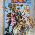 RELATIVE HEROES DYNAMIC FORCES SIGNED2X EDITION #1 SIGNED BY DEVIN GRAYSON AND AARON SOWD W/ COA