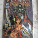 MEDIEVAL SPAWN/WITCHBLADE #3 DF SIGNED BY BRANDON PETERSON AND BATT WITH COA