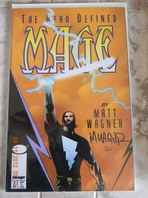 Mage: Hero Defined #1 signed by  Matt Wagner NM W/COA DF