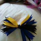 6 inch blue, yellow, and black