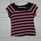 Girls Black/Pink Short Sleeve Top