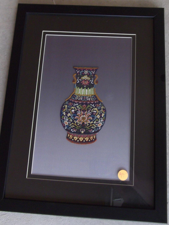 Multi Colored wide base vase