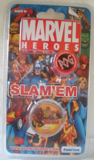 POG MARVEL HEROES SLAM'EM (METAL SLAMMER) - IRON MAN