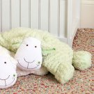 Plush Lamb Pillow Sage