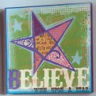 "Textured Graffiti ""Believe"" Canvase"
