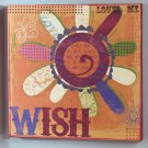 "Textured Graffiti ""Wish"" Canvase"