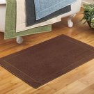 New Oversized Quick-Dry Bath Mat Chocolate Brown Color