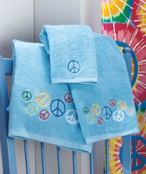"Peace Sign Bath Collection ""3-Pc. Towel Set"""