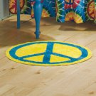 "Peace Sign Bath Collection ""Round Peace Rug"""