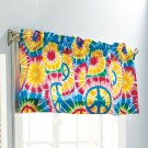 "Peace Sign Bath Collection ""Window Valance (18"" x 60"")"""