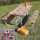 3-Pc. Americana Design Picnic Table Cover