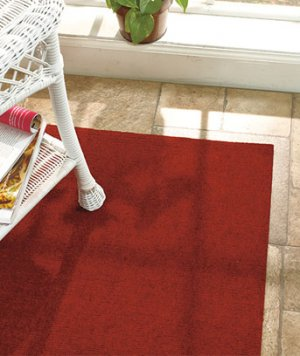 5' x 8' Red Indoor/Outdoor Rug